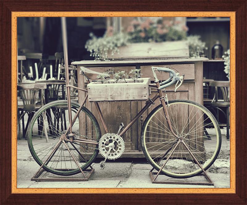 Картина Postermarket Винтажный велосипед с цветами, 40 х 50 смPM-6005Картина Postermarket Винтажный велосипед с цветами прекрасно подойдет для декора интерьера различных помещений. Постер, выполненный в технике фотопечать, оформлен багетом коричневого цвета. Картина для интерьера (постер) - это современное и актуальное направление в дизайне помещений. Ее можно использовать для оформления любых помещений (дом, квартира, офис, бар, кафе, ресторан или гостиница). работоспособность. Правильное оформление интерьера создает благоприятный психологический климат, улучшает настроение и мотивирует.Размер картины: 400 x 500 мм.