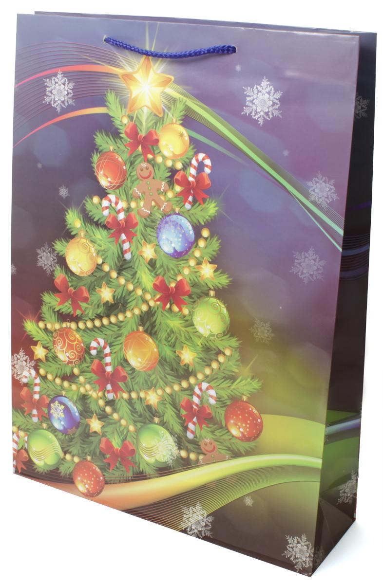 Пакет подарочный МегаМАГ Новый год, 32,4 х 44,5 х 10,2 см. 5000 XLRSP-202SПодарочный пакет МегаМАГ, изготовленный из плотной ламинированной бумаги, станет незаменимым дополнением к выбранному подарку. Для удобной переноски на пакете имеются две ручки-шнурки.Подарок, преподнесенный в оригинальной упаковке, всегда будет самым эффектным и запоминающимся. Окружите близких людей вниманием и заботой, вручив презент в нарядном, праздничном оформлении.