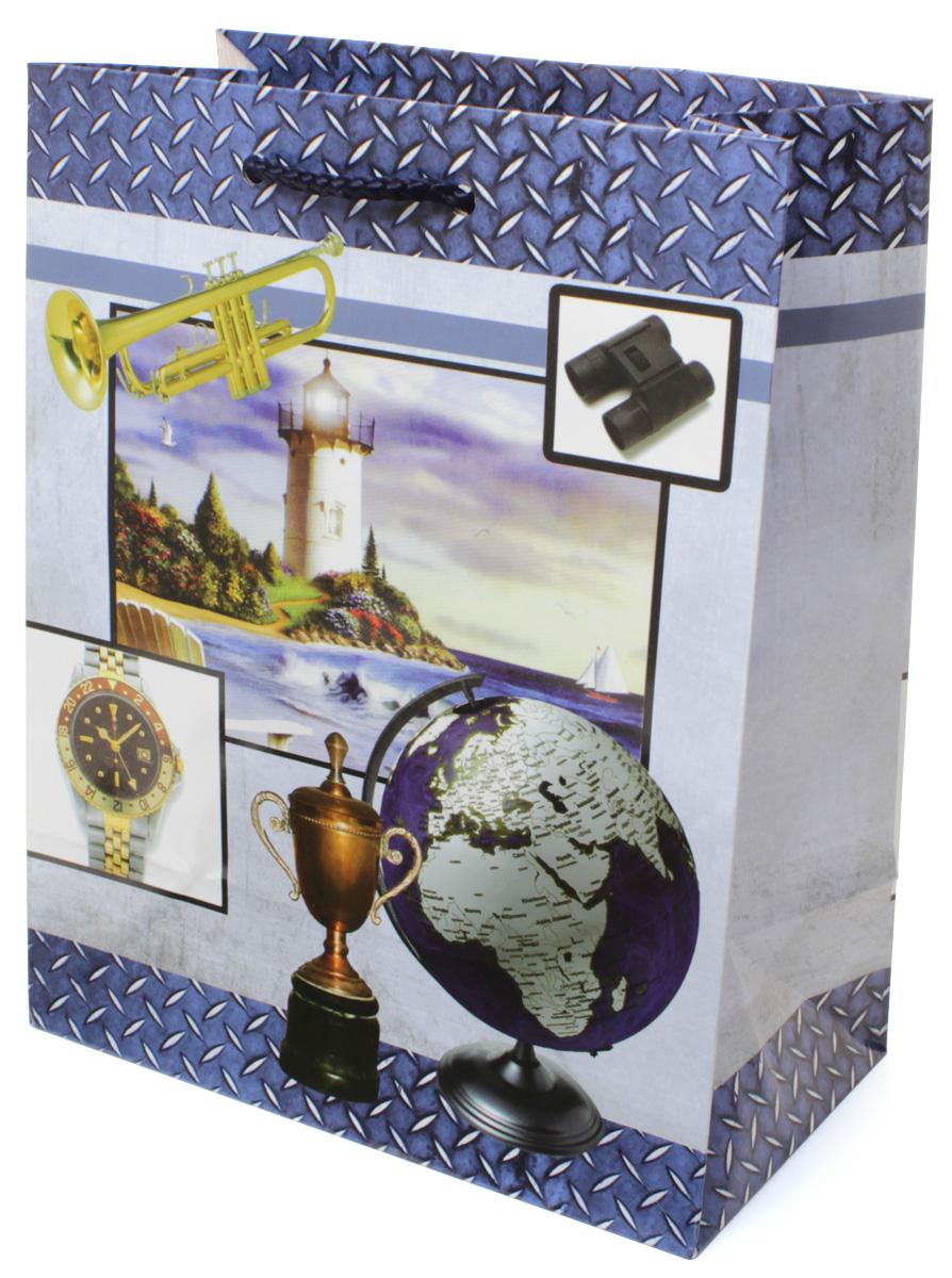 Пакет подарочный МегаМАГ Маяк. Кубок. Глобус. Часы, 18 х 22,7 х 10 см. 2129 M545631Подарочный пакет МегаМАГ, изготовленный из плотной ламинированной бумаги, станет незаменимым дополнением к выбранному подарку. Для удобной переноски на пакете имеются две ручки-шнурки.Подарок, преподнесенный в оригинальной упаковке, всегда будет самым эффектным и запоминающимся. Окружите близких людей вниманием и заботой, вручив презент в нарядном, праздничном оформлении.