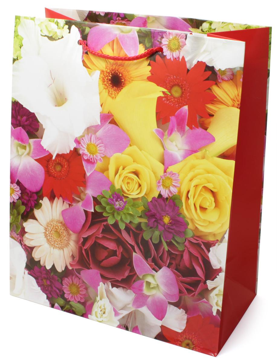 Пакет подарочный МегаМАГ Цветы, 26,4 х 32,7 х 13,6 см. 3062 L488946Подарочный пакет МегаМАГ, изготовленный из плотной ламинированной бумаги, станет незаменимым дополнением к выбранному подарку. Для удобной переноски на пакете имеются две ручки-шнурки.Подарок, преподнесенный в оригинальной упаковке, всегда будет самым эффектным и запоминающимся. Окружите близких людей вниманием и заботой, вручив презент в нарядном, праздничном оформлении.
