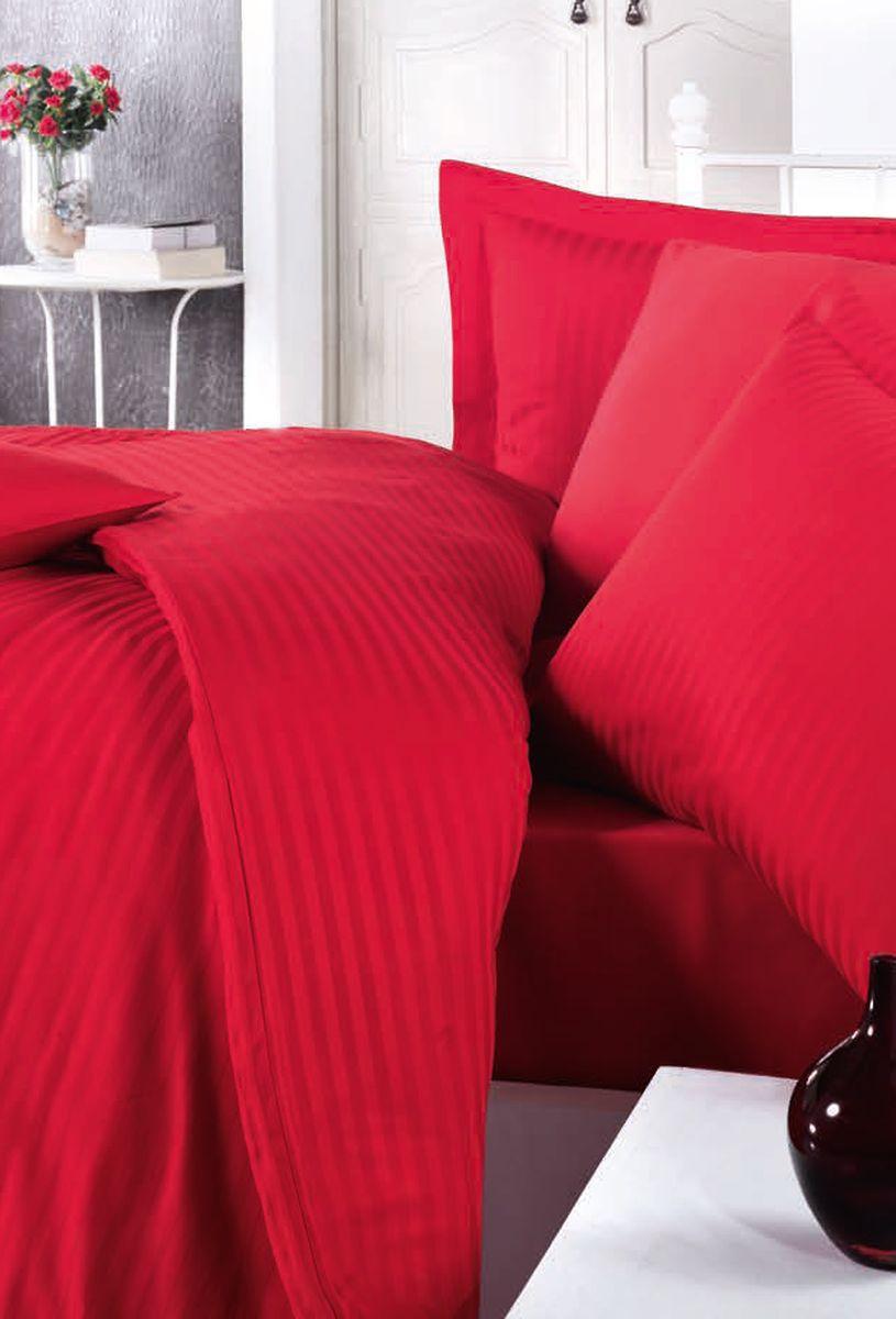 Комплект белья Clasy Stripe Satin, евро, наволочки 50х70, цвет: красный. 5240391602Комплект постельного белья Clasy Stripe Satin изготовлен в Турции из высококачественного сатин-жаккарда на одной из ведущих фабрик.Выбирая постельное белье Clasy Stripe Satin вы будете приятно удивлены качественной выделкой ткани, красивыми и модными расцветками, а так же его отличным качеством. Все наволочки у комплектов Clasy Stripe Satin имеют клапан без пуговиц и молнии.Пододеяльник с пуговицами.