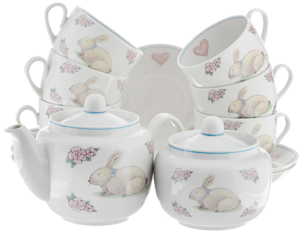 Сервиз чайный Фарфор Вербилок Август. Розовые мечты, 14 предметовVT-1520(SR)Чайный сервиз Фарфор Вербилок Август. Розовые мечты состоит из 6 чашек, 6 блюдец, сахарницы и заварочного чайника. Изделия выполнены из высококачественного фарфора и оформлены красивым рисунком. Изящный чайный сервиз прекрасно оформит стол к чаепитию и порадует вас элегантным дизайном и качеством исполнения.Объем чайника: 600 мл.Высота чайника (без учета крышки): 10,5 см.Диаметр чайника (по верхнему краю): 6,5 см.Высота сахарницы (без учета крышки): 8,5 см.Диаметр сахарницы (по верхнему краю): 6,5 см.Объем сахарницы: 500 мл.Объем чашки: 300 мл.Диаметр чашки (по верхнему краю): 8,5 см.Высота чашки: 6 см.Диаметр блюдца: 14 см.Высота блюдца: 2,3 см.