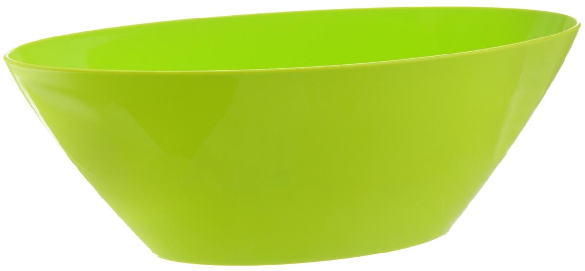 Кашпо Idea Овал, цвет: салатовый, 3,4 л531-105Кашпо Idea Овал изготовлено из высококачественного полипропилена. Изделие прекрасно подходит для выращивания растений и цветов в домашних условиях. Лаконичный дизайн впишется в интерьер любого помещения. Размер кашпо: 16 х 36 см.Высота: 13 см.