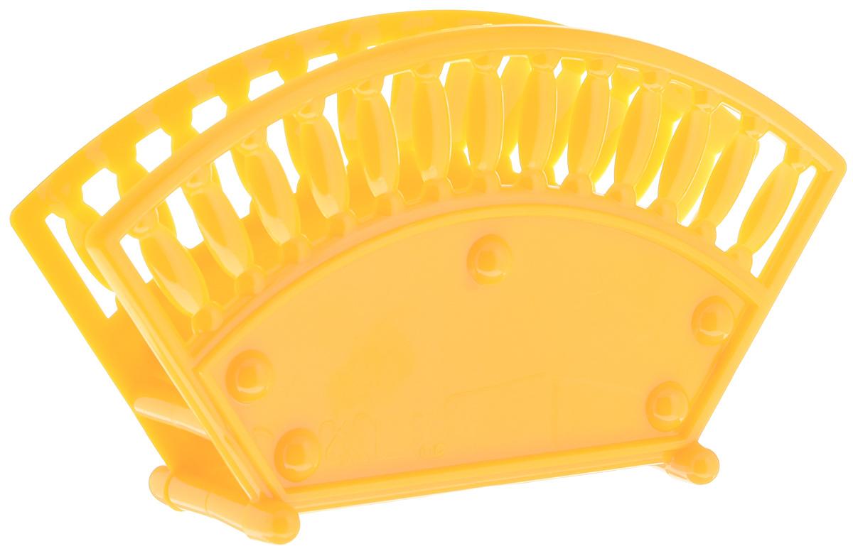 Салфетница Альтернатива, цвет: желтый, оранжевый, 17,5 х 4,7 х 9,5 см115510Салфетница Альтернатива изготовлена из высококачественного пластика и оформлена оригинальной перфорацией. Изделие сочетает в себе изысканный дизайн с максимальной функциональностью. Такая салфетница станет практичным украшением вашего кухонного стола.