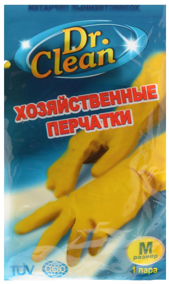 Перчатки хозяйственные Dr. Clean, цвет: желтый. Размер MDAVC150Универсальные перчатки Dr. Clean произведены из высококачественного латекса, бесшовные, с рифленой поверхностью рабочих частей, которая позволяет удерживать мокрые предметы. Перчатки подходят для различных видов домашних работ. Изделия эластичны, хорошо облегают руку.