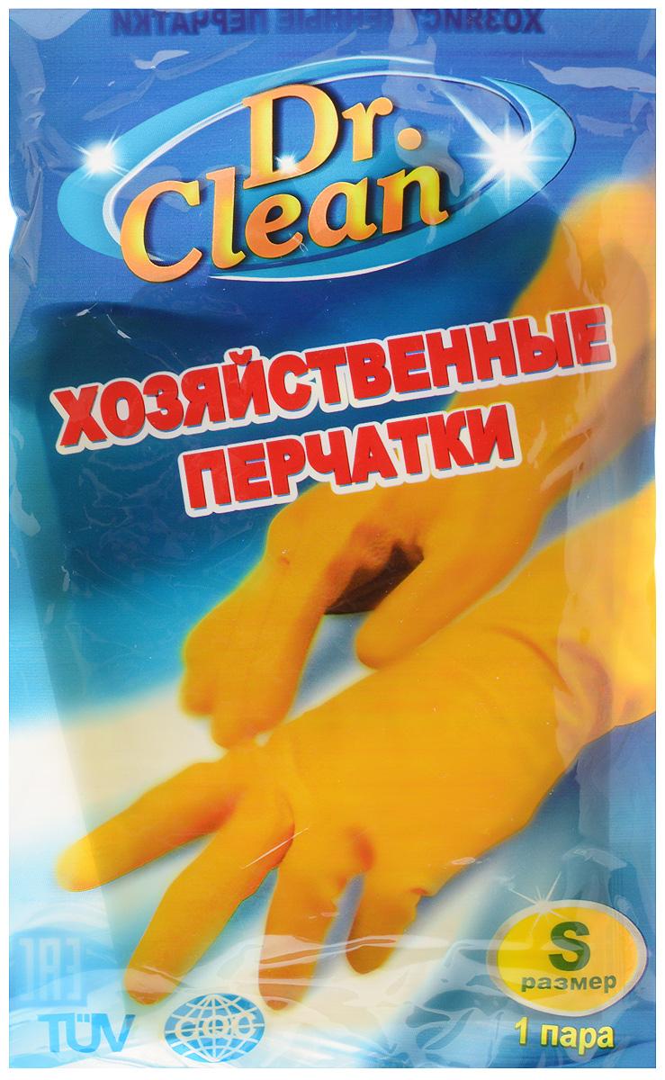 Перчатки хозяйственные Dr. Clean, цвет: желтый. Размер SNN-604-LS-BUУниверсальные перчатки Dr. Clean произведены из высококачественного латекса, бесшовные, с рифленой поверхностью рабочих частей, которая позволяет удерживать мокрые предметы. Перчатки подходят для различных видов домашних работ. Изделия эластичны, хорошо облегают руку.