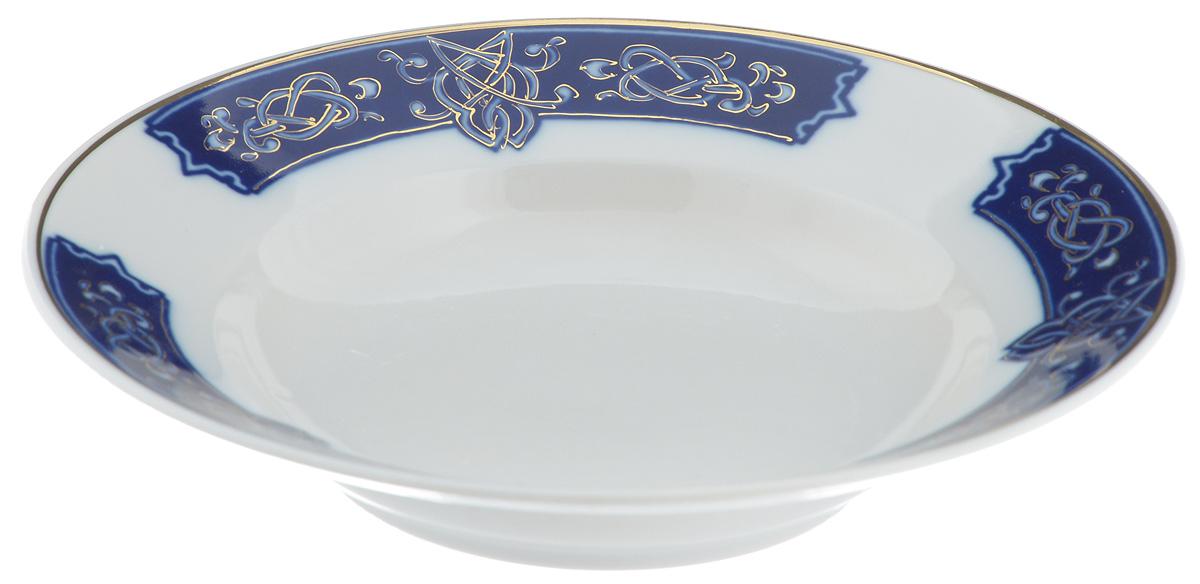 Тарелка глубокая Фарфор Вербилок Византия, диаметр 19 см115510Глубокая тарелка Фарфор Вербилок Византия выполнена из высококачественного фарфора. Она прекрасно впишется в интерьер вашей кухни и станет достойным дополнением к кухонному инвентарю. Тарелка Фарфор Вербилок Византия подчеркнет прекрасный вкус хозяйки и станет отличным подарком. Диаметр тарелки: 19 см.Высота тарелки: 3,5 см.