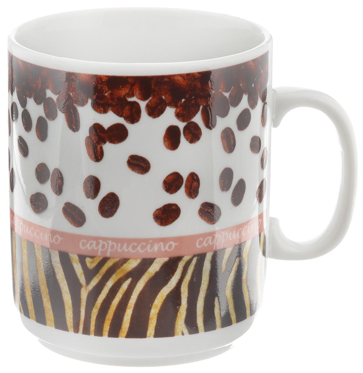 Кружка Фарфор Вербилок Капучино, 300 мл391602Кружка Фарфор Вербилок Капучино способна скрасить любое чаепитие. Изделие выполнено из высококачественного фарфора. Посуда из такого материала позволяет сохранить истинный вкус напитка, а также помогает ему дольше оставаться теплым.Диаметр по верхнему краю: 8 см.Высота кружки: 9,5 см.Объем кружки: 300 мл.