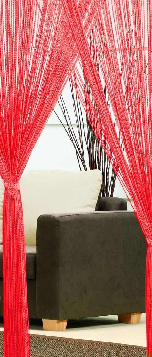 Гардина-лапша Haft, на кулиске, цвет: красный, высота 250 см. 46990UN111256680Легкая гардина-лапша на кулиске Haft, изготовленная из полиэстера, станетвеликолепным украшением любого окна. Оригинальный дизайн и приятнаяцветовая гамма привлекут к себе внимание и органично впишутся в интерьеркомнаты.К изделию прилагается удобный мешок для стирки на стяжке.