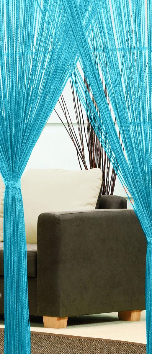 Гардина-лапша Haft, на кулиске, цвет: голубой, высота 250 см. 46990с w191 v7000Легкая гардина-лапша на кулиске Haft, изготовленная из полиэстера, станетвеликолепным украшением любого окна. Оригинальный дизайн и приятнаяцветовая гамма привлекут к себе внимание и органично впишутся в интерьеркомнаты.К изделию прилагается удобный мешок для стирки на стяжке.