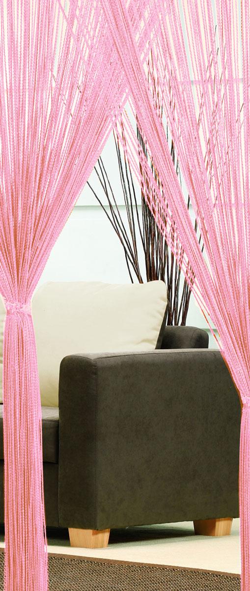 Гардина-лапша Haft, на кулиске, цвет: светло-розовый, высота 250 см. 46990/250SVC-300Легкая гардина-лапша на кулиске Haft, изготовленная из полиэстера, станетвеликолепным украшением любого окна. Оригинальный дизайн и приятнаяцветовая гамма привлекут к себе внимание и органично впишутся в интерьеркомнаты.К изделию прилагается удобный мешок для стирки на стяжке.