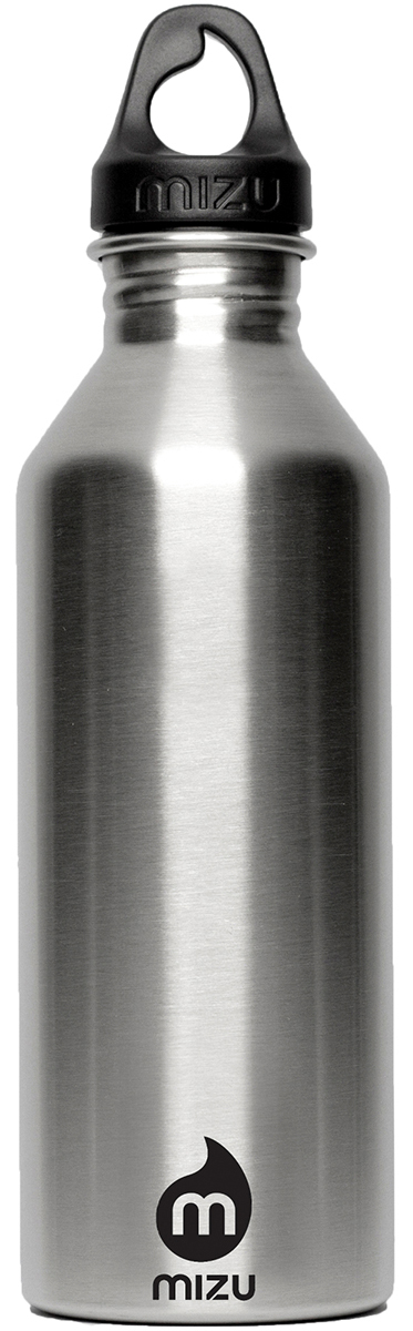 Бутылка для воды Mizu M8, цвет: черный, 800 мл67742Бутылка из пищевой нержавеющей стали для тех, кто заботится об окружающей среде и своем здоровье. Объем: 800 мл. Обхват: 24 см. Диаметр: 7 см. Высота (с крышкой): 26 см.
