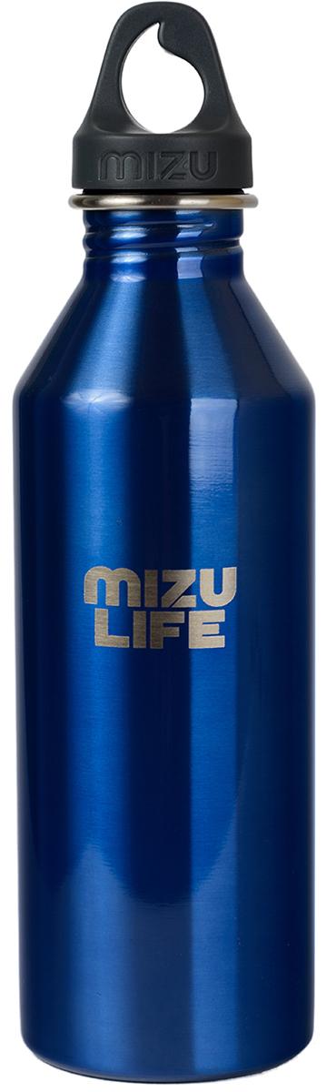 Бутылка для воды Mizu M8, цвет: голубой, серый, 800 мл бутылка для воды mizu m8 st blue le w blue loop cap o s