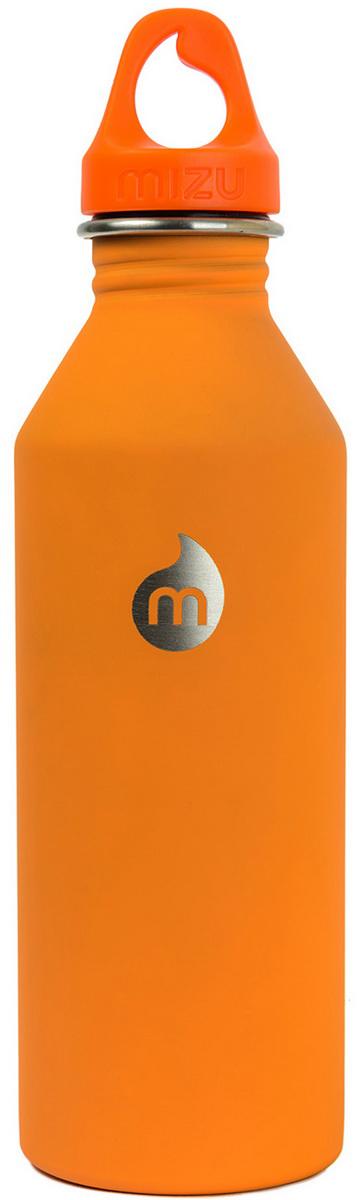 Бутылка для воды Mizu M8, цвет: оранжевый, 800 мл67742Бутылка из пищевой нержавеющей стали для тех, кто заботится об окружающей среде и своем здоровье. Объем: 800 мл. Обхват: 24 см. Диаметр: 7 см. Высота (с крышкой): 26 см.