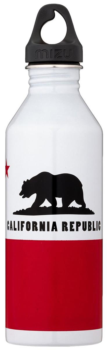 Бутылка для воды Mizu  M8. California Flag , цвет: глянцево белый, 800 мл - Туристическая посуда
