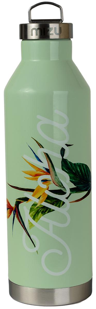 Термобутылка для жидкостей Mizu V8, цвет: глянцево ментоловый, 800 мл737845Бутылка-термос Mizu V8 с крышкой с кольцом, выполненная из пищевой нержавеющей стали, отлично подойдет для тех, кто заботится об окружающей среде и своем здоровье. Ее удобно брать с собой в путешествия, походы и на рыбалку.Бутылка сохраняет горячее до 12 часов и холодное до 18 часов. Не содержит вредного BPA .Объем: 800 мл.Диаметр: 7,5 см. Обхват: 24 см. Высота (с крышкой): 26,5 см.