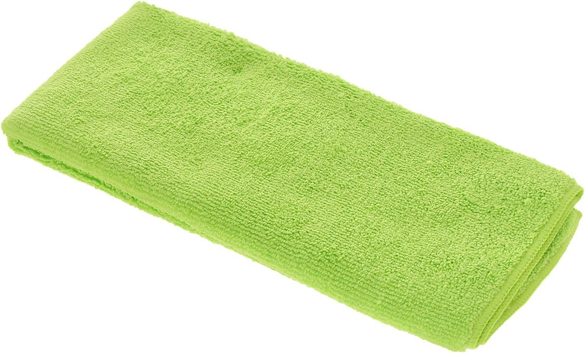 Салфетка чистящая Sapfire Large & Soft, цвет: салатовый, 60 х 50 смHG5606Чистящая салфетка Sapfire Large & Soft выполнена из микрофибры (85% полиэстер, 15% полиамид). Каждая нить после специальной химической обработки расщепляется на 12-16 клиновидных микроволокон. Микрофибровое полотно удаляет грязь с поверхности намного эффективнее, быстрее и значительно более бережно в сравнении с обычной тканью, что существенно снижает время на проведение уборки, поскольку отсутствует необходимость протирать одно и то же место дважды. Салфетка обладает уникальной способностью быстро впитывать большой объем жидкости. Клиновидные микроскопические волокна захватывают и легко удерживают частички пыли, жировой и никотиновый налет, микроорганизмы, в том числе болезнетворные и вызывающие аллергию. Благодаря своей сетчатой структуре, легко удаляет с твердых поверхностей засохшую грязь, смолу и почки деревьев, прилипших насекомых. Протертая поверхность становится идеально чистой, сухой, блестящей, без разводов и ворсинок. Микрофибра устойчива к истиранию, ее можно быстро вернуть к первоначальному виду с помощью машинной стирки при малом количестве моющих средств. Состав салфетки: полиэстер (85%), полиамид (15%).Размер салфетки: 60 х 50 см.