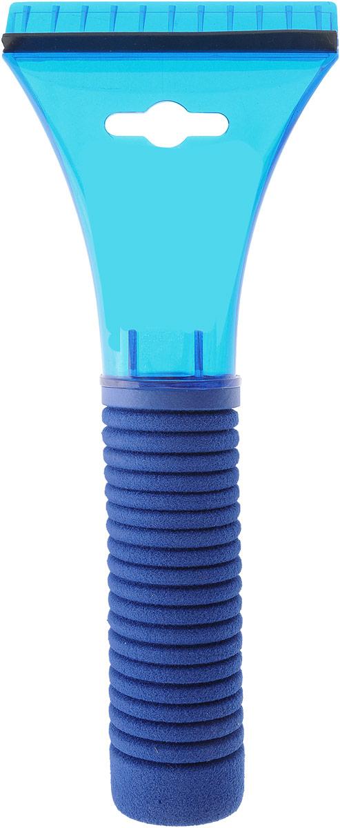 Скребок для льда Sapfire, с водосгоном, цвет: синий, длина 21 смАС-420Скребок Sapfire предназначен для удаления льда. Имеет мощную рукоятку из морозостойкого пластика с утепленной насадкой. Для наиболее удобной работы оснащен водосгоном. Длина скребка: 21 см. Размер раочей части: 9 см.