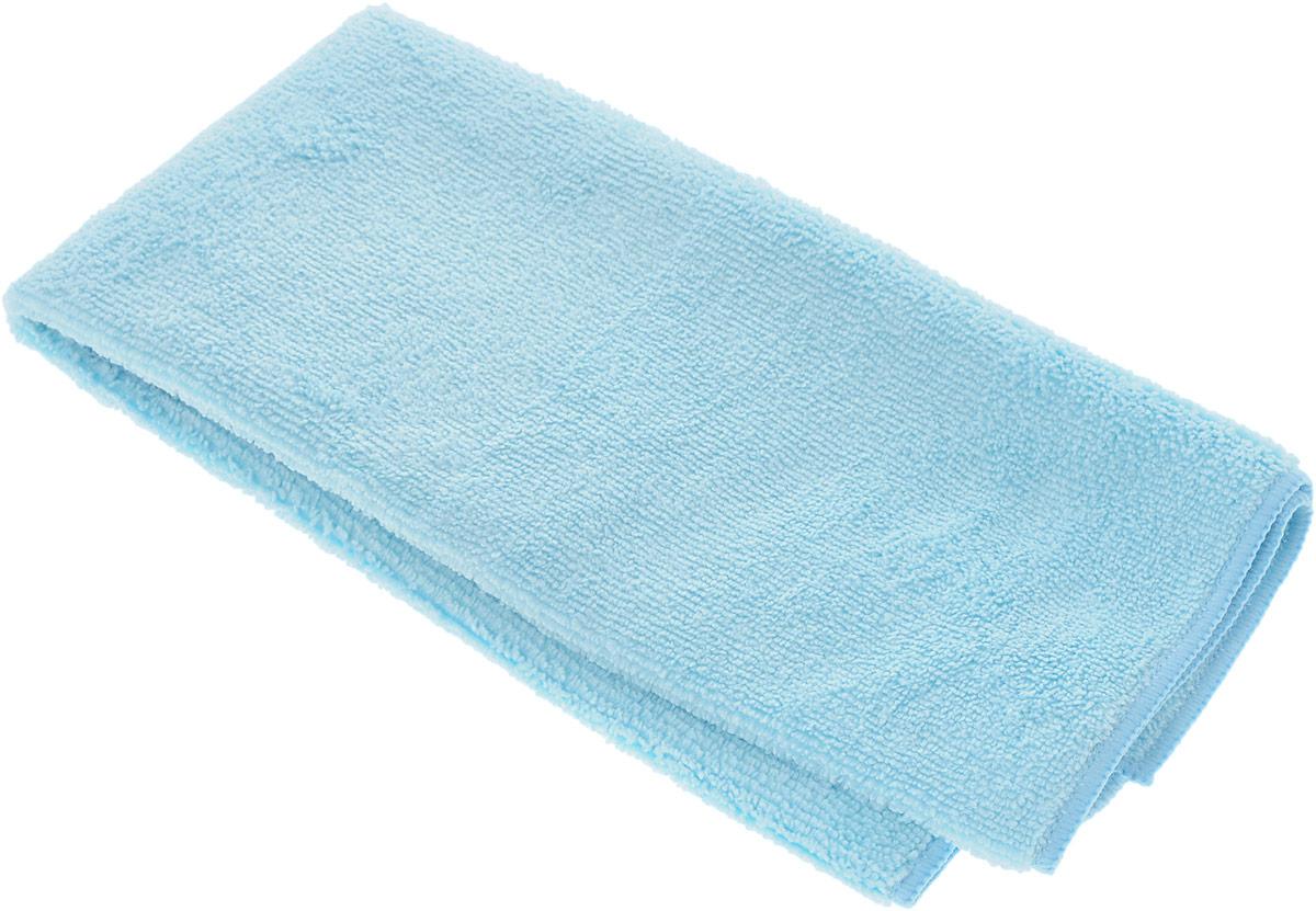 Салфетка чистящая Sapfire Large & Soft, цвет: голубой, 60 х 50 см06008A7602Чистящая салфетка Sapfire Large & Soft выполнена из микрофибры (85% полиэстер, 15% полиамид). Каждая нить после специальной химической обработки расщепляется на 12-16 клиновидных микроволокон. Микрофибровое полотно удаляет грязь с поверхности намного эффективнее, быстрее и значительно более бережно в сравнении с обычной тканью, что существенно снижает время на проведение уборки, поскольку отсутствует необходимость протирать одно и то же место дважды. Салфетка обладает уникальной способностью быстро впитывать большой объем жидкости. Клиновидные микроскопические волокна захватывают и легко удерживают частички пыли, жировой и никотиновый налет, микроорганизмы, в том числе болезнетворные и вызывающие аллергию. Благодаря своей сетчатой структуре, легко удаляет с твердых поверхностей засохшую грязь, смолу и почки деревьев, прилипших насекомых. Протертая поверхность становится идеально чистой, сухой, блестящей, без разводов и ворсинок. Микрофибра устойчива к истиранию, ее можно быстро вернуть к первоначальному виду с помощью машинной стирки при малом количестве моющих средств. Состав салфетки: полиэстер (85%), полиамид (15%).Размер салфетки: 60 х 50 см.