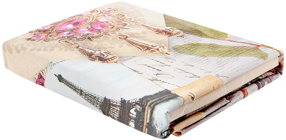 """Комплект белья Волшебная ночь """"Vintage"""", 1,5-спальный, наволочки 70x70, цвет: бежевый, розовый, золотой"""