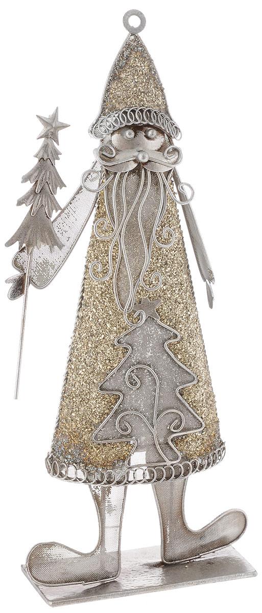 Фигурка новогодняя House & Holder Дед Мороз, высота 32,5 смRSP-202SФигурка новогодняя House & Holder Дед Мороз прекрасно подойдет для праздничного декора вашего дома. Изделие выполнено из металла в виде Деда Мороза. Такое оригинальное украшение оформит интерьер вашего дома или офиса в преддверии Нового года. Оригинальный дизайн и красочное исполнение создадут праздничное настроение. Кроме того, это отличный вариант подарка для ваших близких и друзей.