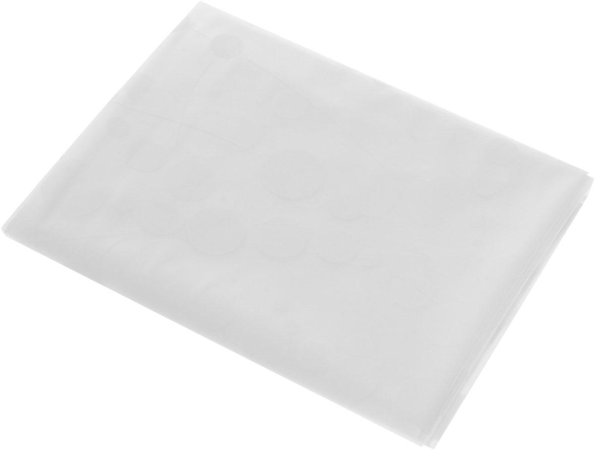 Штора для ванной комнаты Ridder Dots, цвет: белый, 180 х 200 см531-105Шторадля ванной комнаты Ridder Dots, изготовленная из материала ПЕВА, приятна на ощупь, устойчива к разрывам и проколам, не пропускает воду. Она надежно защитит от брызг и капель пространство вашей ванной комнаты в то время, пока вы принимаете душ, а привлекательный дизайн шторы наполнит вашу ванную комнату положительной энергией.