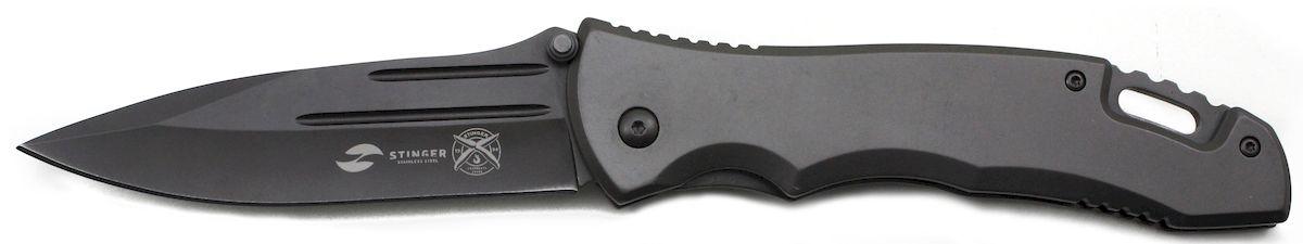 Нож складной Stinger, с клипом, 133 мм, цвет: серый. FK-S044FK-S044Складные ножи Stinger изготовлены из нержавеющей стали, прочных пород древесины и различных полимеров. Ножи выполнены в современном, военном и классических стилях. Они будут отличным подарком для рыбака, охотника, спортсмена или человека, который ценит отдых на природе. Лезвие и рукоять из нержавеющей стали, с клипом, серый, в подарочной коробке. Размер ножа в открытом виде - 235 мм, толщина лезвия - 3 мм.