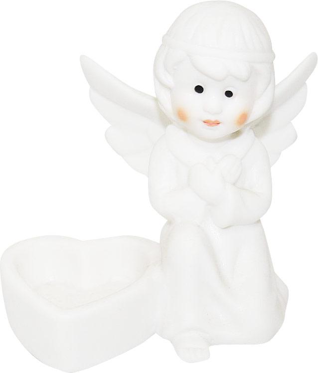 Подсвечник Lillo Ангел, высота 9,4 смБрелок для ключейПодсвечник Lillo Ангел, выполненный из керамики, украсит интерьер вашего дома или офиса. Оригинальный дизайн и красочное исполнение создадут праздничное настроение. Подсвечник выполнен в форме ангела, сидящего около небольшой чашечки.Вы можете поставить подсвечник в любом месте, где он будет удачно смотреться, и радовать глаз. Кроме того - это отличный вариант подарка для ваших близких и друзей в преддверии Нового года.