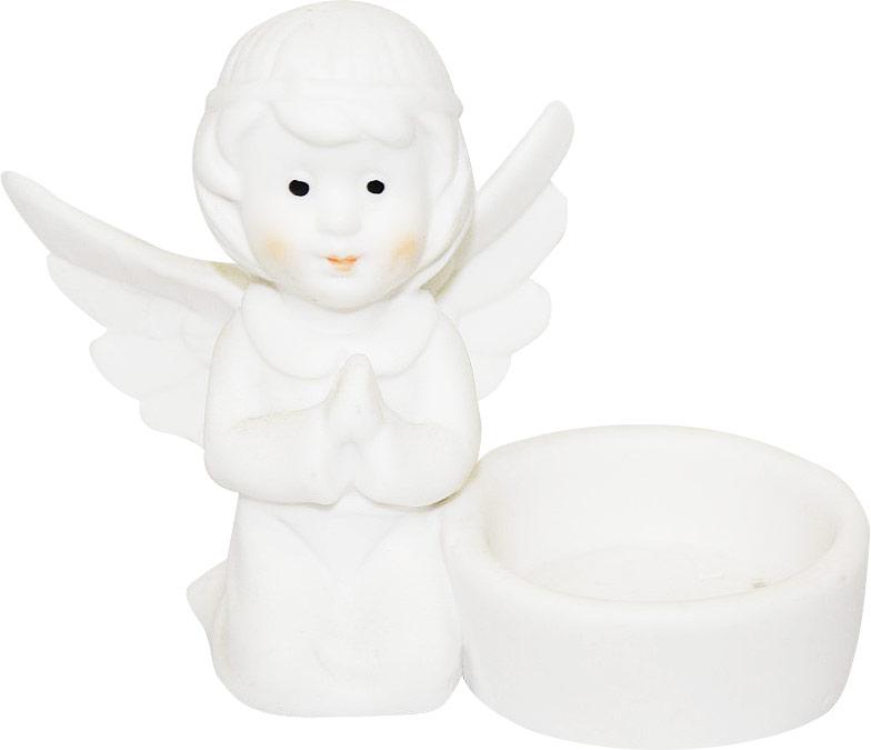 Подсвечник Lillo Ангел, со свечой, высота 8,5 см. YLQ 107646113MПодсвечник Lillo Ангел, выполненный из керамики, украсит интерьер вашего дома или офиса. Оригинальный дизайн и красочное исполнение создадут праздничное настроение. Подсвечник выполнен в форме ангела, сидящего около небольшой чашечки. Внутри чашечки - парафиновая свеча.Вы можете поставить подсвечник в любом месте, где он будет удачно смотреться, и радовать глаз. Кроме того - это отличный вариант подарка для ваших близких и друзей в преддверии Нового года.
