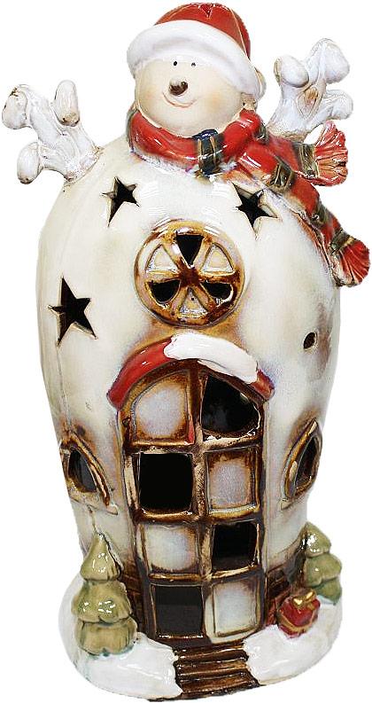 Подсвечник Lillo Снеговик, высота 28,3 см213339Подсвечник Lillo «Снеговик», выполненный из керамики, украсит интерьер вашего дома или офиса. Оригинальный дизайн и красочное исполнение создадут праздничное настроение. Подсвечник выполнен в форме снеговика.Вы можете поставить подсвечник в любом месте, где он будет удачно смотреться, и радовать глаз. Кроме того - это отличный вариант подарка для ваших близких и друзей в преддверии Нового года.