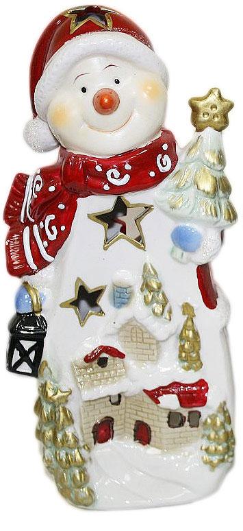 Подсвечник Lillo, высота 24 см. 2011120841619Подсвечник «Lillo», выполненный из керамики, украсит интерьер вашего дома или офиса. Оригинальный дизайн и красочное исполнение создадут праздничное настроение. Подсвечник выполнен в форме снеговика.Вы можете поставить подсвечник в любом месте, где он будет удачно смотреться, и радовать глаз. Кроме того - это отличный вариант подарка для ваших близких и друзей в преддверии Нового года.