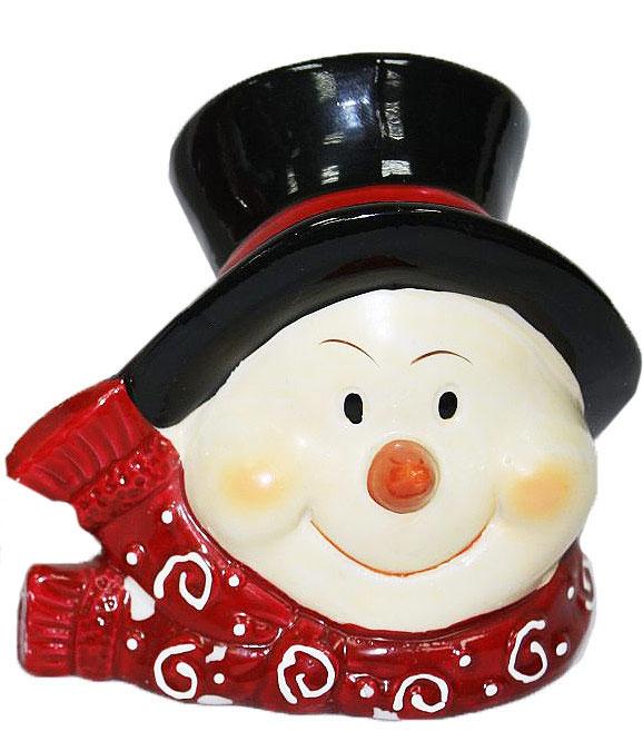 Подсвечник Lillo, цвет: красный, белый, черный, высота 12,5 см41619Подсвечник Lillo, выполненный из керамики, украсит интерьер вашего дома или офиса. Оригинальный дизайн и красочное исполнение создадут праздничное настроение. Подсвечник выполнен в форме снеговика.Вы можете поставить подсвечник в любом месте, где он будет удачно смотреться, и радовать глаз. Кроме того - это отличный вариант подарка для ваших близких и друзей в преддверии Нового года.