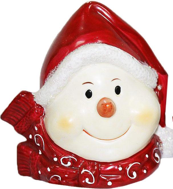 Подсвечник Lillo, цвет: красный, белый, высота 12,5 смБрелок для ключейПодсвечник Lillo, выполненный из керамики, украсит интерьер вашего дома или офиса. Оригинальный дизайн и красочное исполнение создадут праздничное настроение. Подсвечник выполнен в форме снеговика.Вы можете поставить подсвечник в любом месте, где он будет удачно смотреться, и радовать глаз. Кроме того - это отличный вариант подарка для ваших близких и друзей в преддверии Нового года.