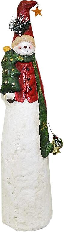 Фигурка декоративная Lillo Снеговик, высота 83 смA5518AP-1SSДекоративная фигурка Lillo Снеговик изготовлена из высококачественной керамики. Вы можете поставить фигурку в любом месте, где она будет удачно смотреться и радовать глаз. Сувенир отлично подойдет в качестве подарка близким или друзьям.