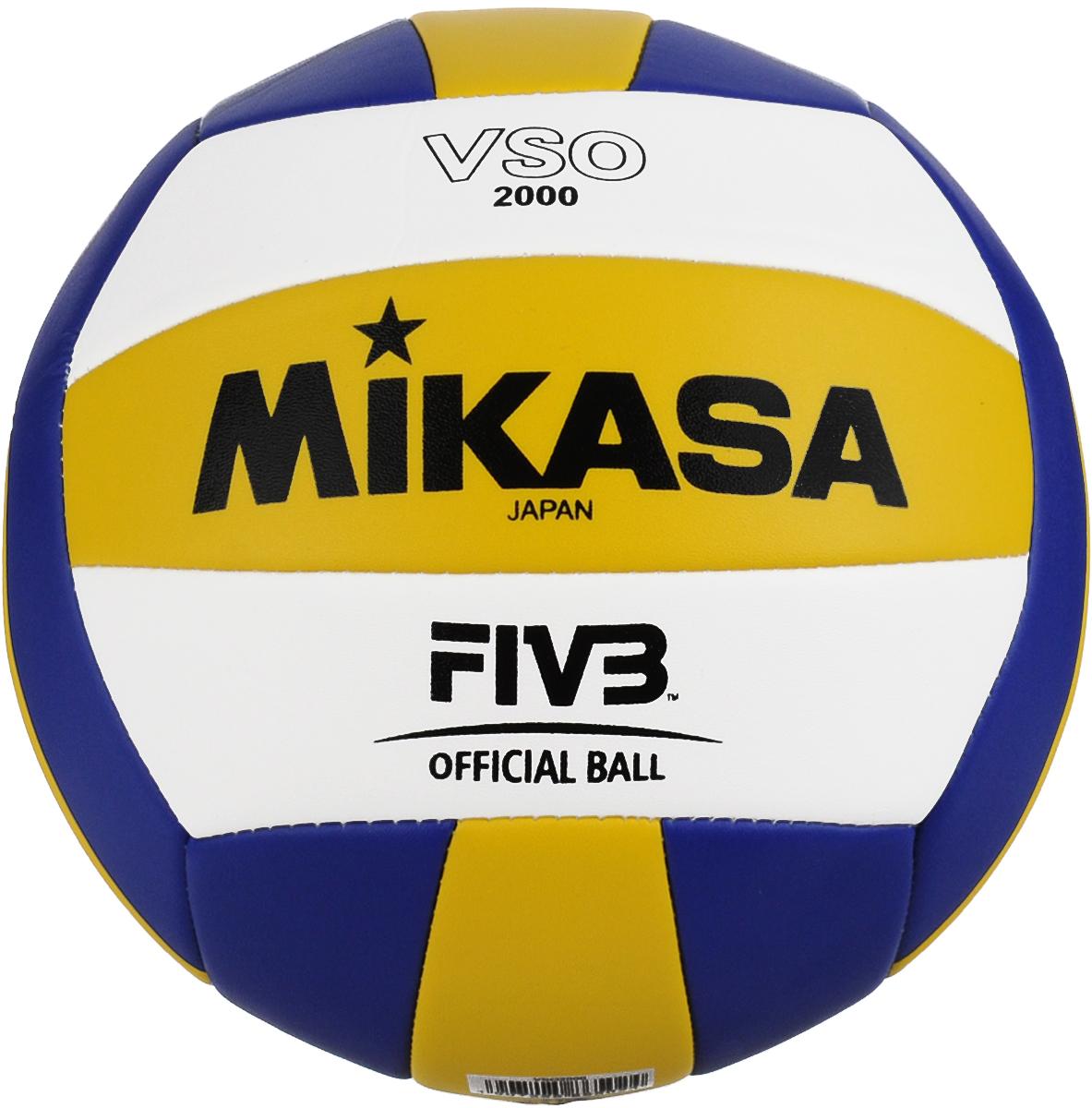 Мяч волейбольный Mikasa VSO 2000. Размер 5УТ-00001285Облегченный мяч Mikasa VSO 2000 предназначен для тренировок начинающих волейболистов и любителей. Изделие состоит из 18 панелей, выполненных из синтетической кожи. Камера изготовлена из бутила. Технология сшивки панелей TwinSTLock обеспечивает долговечность и прочность, как у клееного мяча.УВАЖЕМЫЕ КЛИЕНТЫ!Обращаем ваше внимание на тот факт, что мяч поставляется в сдутом виде. Насос в комплект не входит.