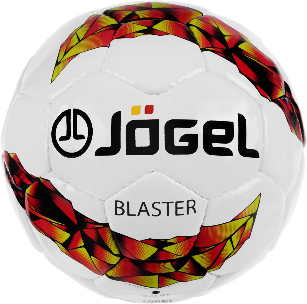 Мяч футзальный Jogel Blaster, цвет: белый, красный, черный. Размер 4. JF-500200170Jogel Blaster - это качественный тренировочный футзальный мяч ручной сшивки, имеющий плотный материал покрышки, благодаря чему обеспечивается более мягкий контакт и максимальная прочность.Данный мяч рекомендован для тренировок и тренировочных игр клубных и любительских команд. Поверхность мяча выполнена из износостойкой синтетической кожи (полиуретан) толщиной 1,2 мм. Мяч имеет 4 подкладочных слоя на нетканой основе (смесь хлопка с полиэстером) и оснащен бутиловой камерой со специальным наполнителем, обеспечивающим рекомендованный FIFA низкий отскок.Уникальной особенностью является традиционная конструкция мяча из 30 панелей. Привлекательный дизайн ярко выделяет мяч на витрине. Официальный размер, вес и отскок FIFA.Рекомендованные покрытия: паркет, уличные площадки с твердыми ровными покрытиями.Количество подкладочных слоев:4.Количество панелей:30.Вес:400-440 г.Длина окружности: 62-64 смРекомендованное давление: 0,6-0,8 бар.УВАЖЕМЫЕ КЛИЕНТЫ!Обращаем ваше внимание на тот факт, что мяч поставляется в сдутом виде. Насос в комплект не входит.