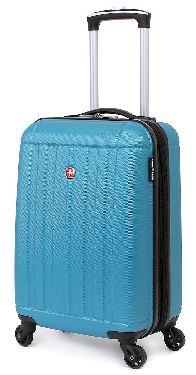 Чемодан SwissGear Uster, цвет: голубой, 37 л. 51546Костюм Охотник-Штурм: куртка, брюкиЧемодан 6297343154 SwissGear Uster, голубой, АБС-пластик, 34x22x48 см, 37 лДорожный чемодан USTER прекрасный выбор для путешественников! Чемоданы серии USTER сделаны из АБС-пластика, преимущества которого заключаются в высокой прочности при минимальном весе. Да, этот чемодан действительно легок и станет отличным компаньоном в дороге даже для хрупких, миниатюрных дам! Удобная телескопическая ручка, сделанная из авиационного алюминия, целых четыре маневренных колесика, вращающийся на 360 градусов, и наличие сразу двух ручек (сверху и сбоку) делают этот чемодан поистине эргономичным. Внутренняя эргономика также свидетельствует о благородном швейцарском происхождении. В основном пространстве имеется отделение, с закрывающейся на молнию сетчатой стенкой, а для небольших аксессуаров имеется съемный несессер. Надежно зафиксировать ваши вещи в чемодане помогут внутренние перекрестные ремни с удобным замком. Характеристики: Застежки молнии основного отделения чемодана предусматривают возможность использования навесного багажного замка, благодаря специальным петлям Колесики, способные вращаться вокруг своей оси для маневренности Максимально облегченный и эргономичный Телескопическая ручка из авиационного алюминия Дополнительные ручки: верхняя и боковая ручки Внутренние перекрестные ремни для надежной фиксации содержимого Отделение для небольших аксессуаров на молнии внутри Одна из секций чемодана при необходимости закрывается на молнию, тем самым разделяя основное пространство на две части Объем: 37 л Вес пустого чемодана: 2,82 кг Размер: 34x22x48 см Цвет: Голубой Материал: АБС-пластик