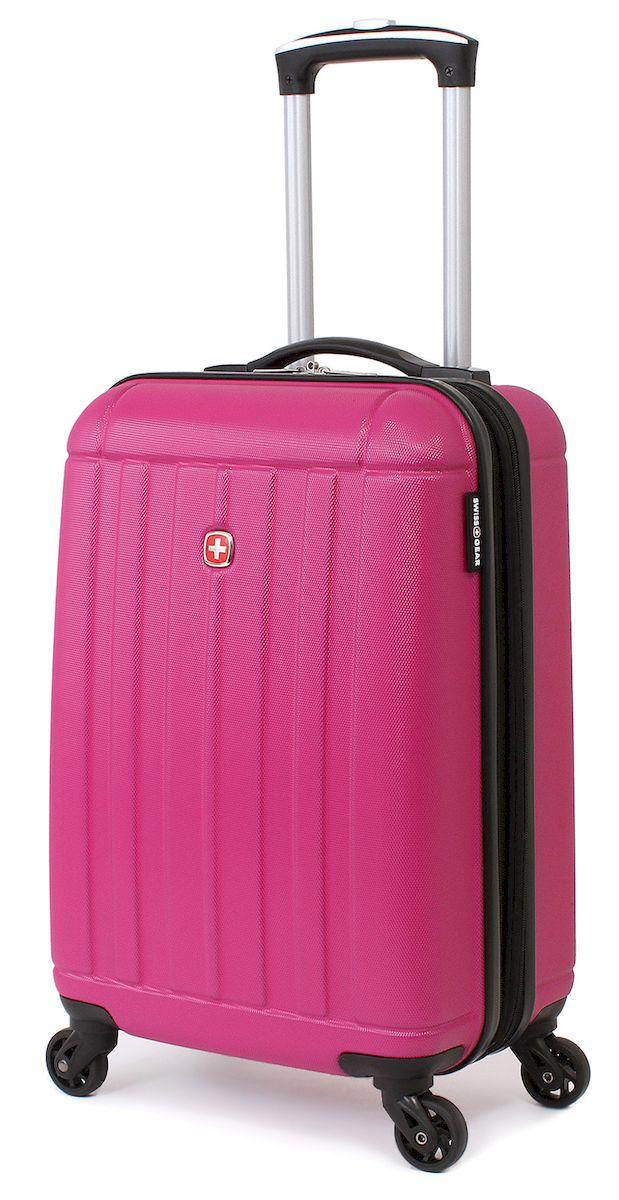Чемодан SwissGear Uster, цвет: розовый, 37 л. 515446297808154Чемодан 6297808154 SwissGear Uster, розовый, АБС-пластик, 34x22x48 см, 37 лДорожный чемодан USTER прекрасный выбор для путешественников! Чемоданы серии USTER сделаны из АБС-пластика, преимущества которого заключаются в высокой прочности при минимальном весе. Да, этот чемодан действительно легок и станет отличным компаньоном в дороге даже для хрупких, миниатюрных дам! Удобная телескопическая ручка, сделанная из авиационного алюминия, целых четыре маневренных колесика, вращающийся на 360 градусов, и наличие сразу двух ручек (сверху и сбоку) делают этот чемодан поистине эргономичным. Внутренняя эргономика также свидетельствует о благородном швейцарском происхождении. В основном пространстве имеется отделение, с закрывающейся на молнию сетчатой стенкой, а для небольших аксессуаров имеется съемный несессер. Надежно зафиксировать ваши вещи в чемодане помогут внутренние перекрестные ремни с удобным замком. Характеристики: Застежки молнии основного отделения чемодана предусматривают возможность использования навесного багажного замка, благодаря специальным петлям Колесики, способные вращаться вокруг своей оси для маневренности Максимально облегченный и эргономичный Телескопическая ручка из авиационного алюминия Дополнительные ручки: верхняя и боковая ручки Внутренние перекрестные ремни для надежной фиксации содержимого Отделение для небольших аксессуаров на молнии внутри Одна из секций чемодана при необходимости закрывается на молнию, тем самым разделяя основное пространство на две части Объем: 37 л Вес пустого чемодана: 2,82 кг Размер: 34x22x48 см Цвет: Розовый Материал: АБС-пластик