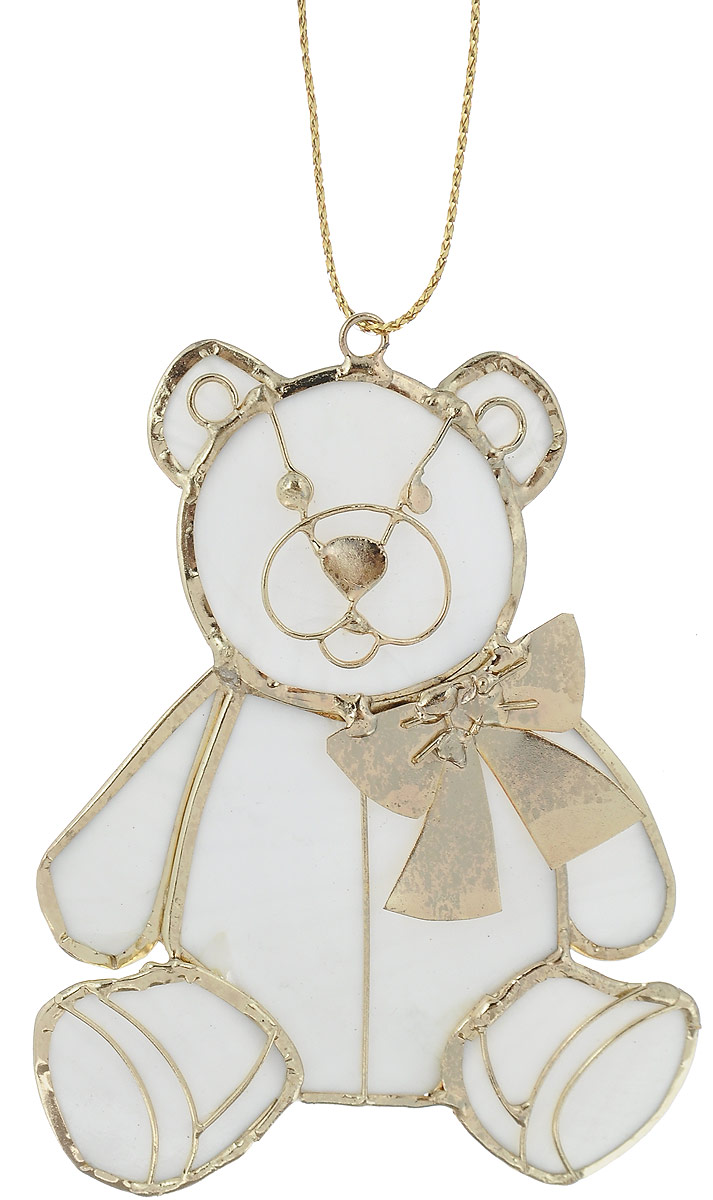 Украшение новогоднее подвесное Winter Wings Мишка, 6,5 х 8 см75957Украшение Winter Wings Мишка прекрасно подойдет для праздничного декора новогодней ели. Изделие выполнено из перламутра и металла. Для удобного размещения на елке предусмотрена текстильная петелька.Елочная игрушка - символ Нового года. Она несет в себе волшебство и красоту праздника. Создайте в своем доме атмосферу веселья и радости, украшая новогоднюю елку нарядными игрушками, которые будут из года в год накапливать теплоту воспоминаний.