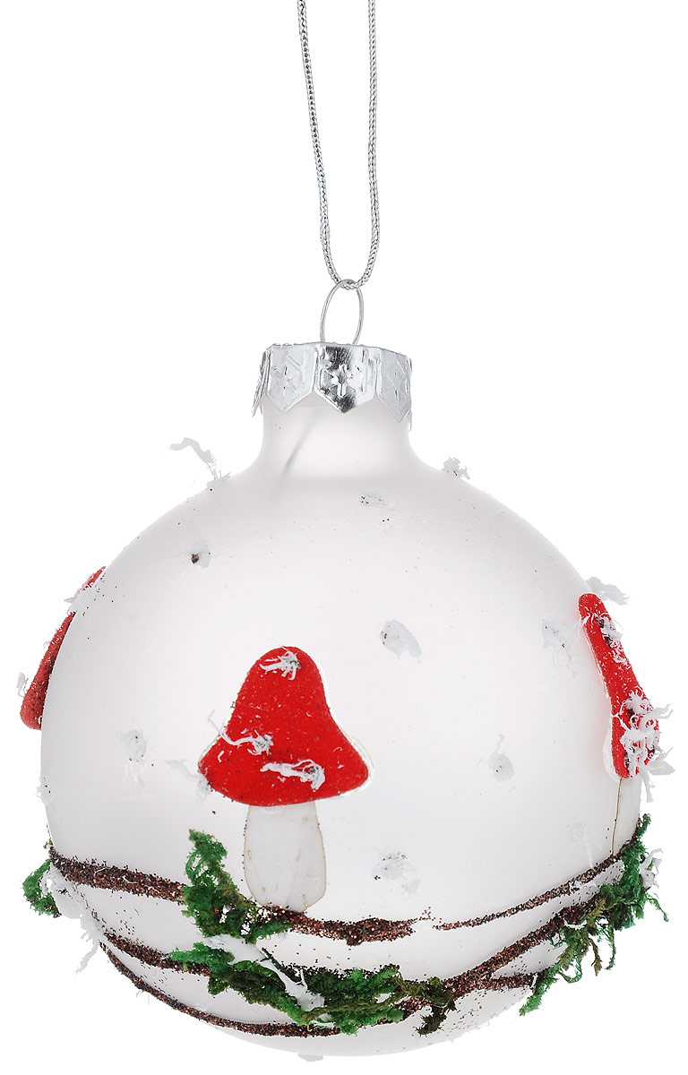 Украшение новогоднее подвесное Winter Wings Шар. Мухомор, диаметр 7 смN07973Новогоднее подвесное украшение Winter Wings Шар. Мухомор прекрасно подойдет для праздничного декора новогодней ели. Изделие выполнено из высококачественного стекла. Для удобного размещения на елке на украшении предусмотрена петелька.Елочная игрушка - символ Нового года. Она несет в себе волшебство и красоту праздника. Создайте в своем доме атмосферу веселья и радости, украшая новогоднюю елку нарядными игрушками, которые будут из года в год накапливать теплоту воспоминаний. Откройте для себя удивительный мир сказок и грез. Почувствуйте волшебные минуты ожидания праздника, создайте новогоднее настроение вашим дорогим и близким.