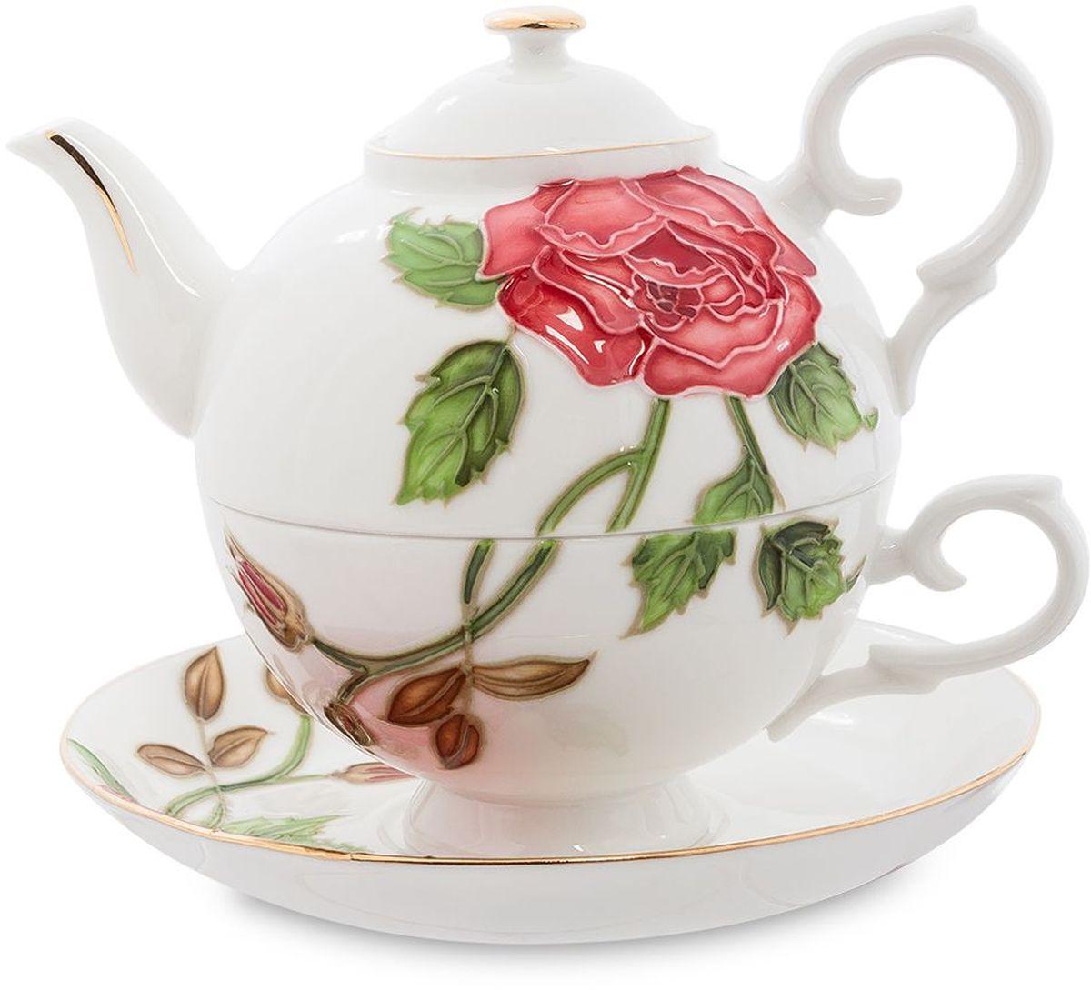 Набор чайный Pavone Золотая Роза, 3 предмета. 451587VT-1520(SR)Объем чайника: 400 млОбъем чаши: 250 млДиаметр блюдца: 15 см