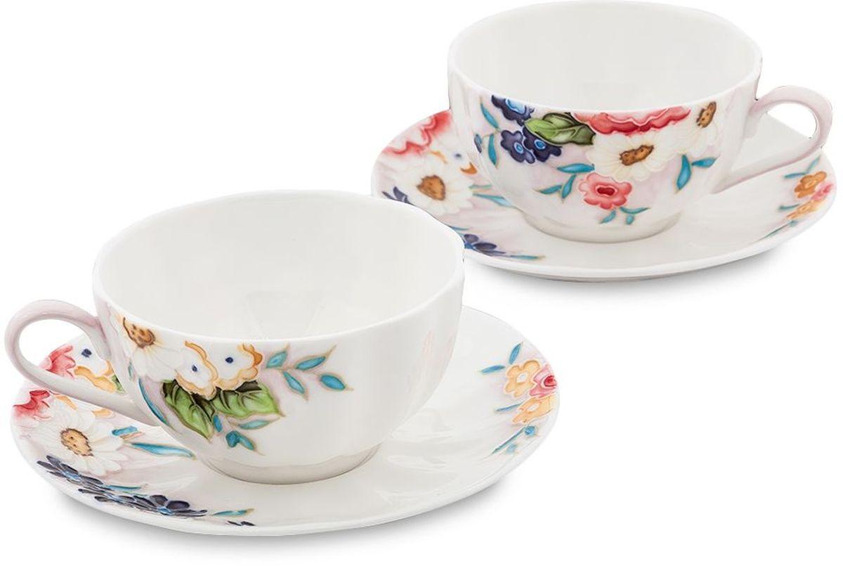 Набор чайный Pavone Королева Камилла, 4 предмета. 451590VT-1520(SR)Объем чашки: 150 млДиаметр блюдца: 14 см.