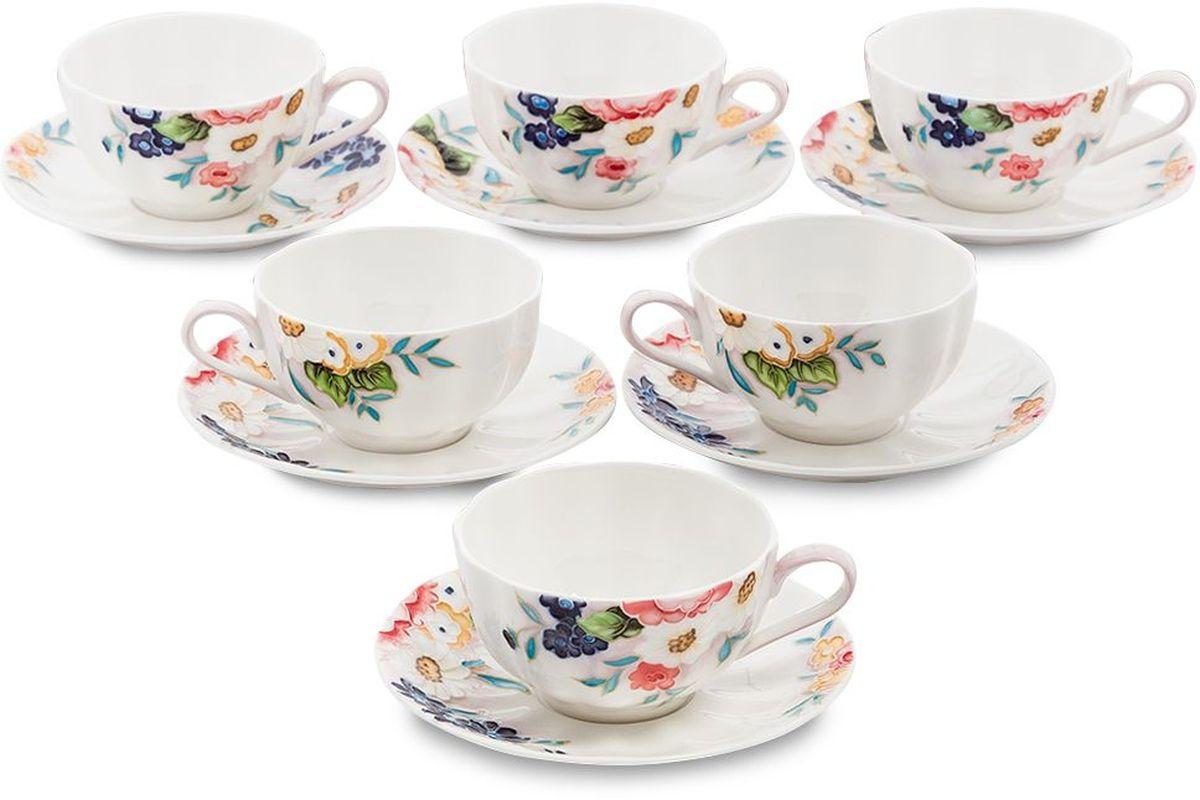 Набор чайный Pavone Королева Камилла, 6 предметов. 451591115610Объем чашки: 150 млДиаметр блюдца: 14 см.