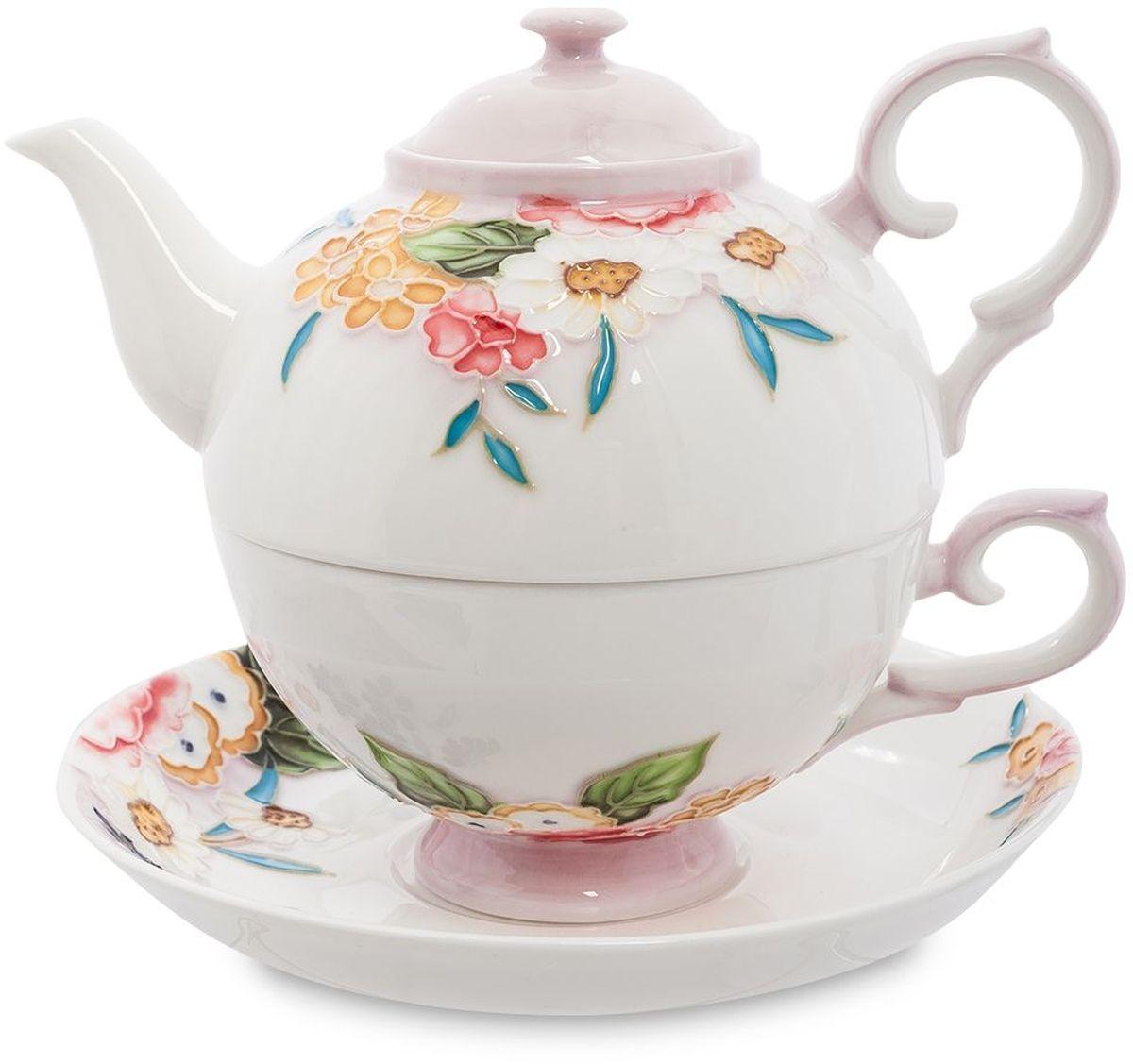 Набор чайный Pavone Королева Камилла, 3 предмета. 451592VT-1520(SR)Объем чайника: 400 млОбъем чаши: 250 млДиаметр блюдца: 15 см