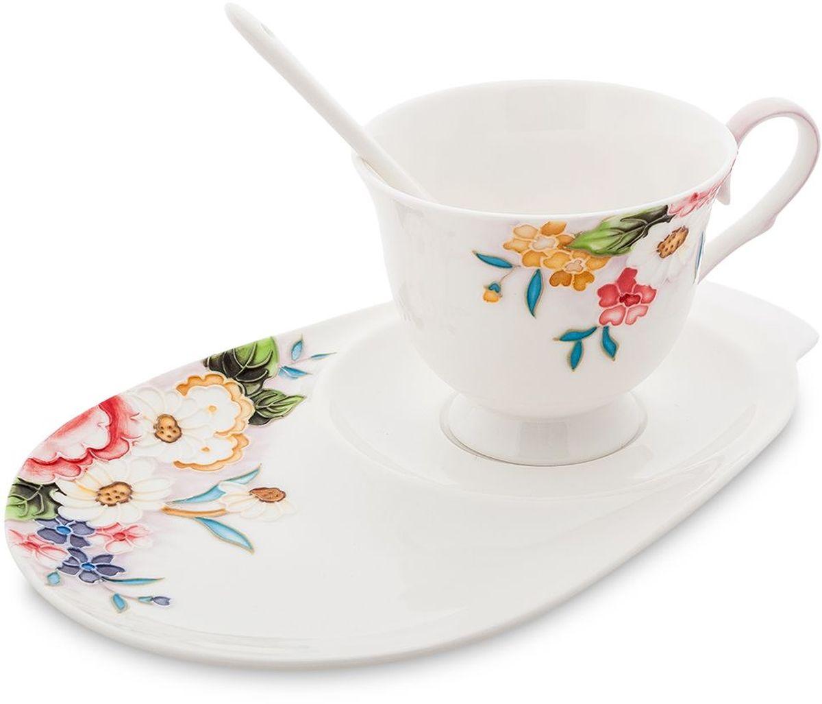 Чайная пара Pavone Королева Камилла, 3 предмета. 451594115510Объем чашки: 250 мл Длина блюдца: 23 см