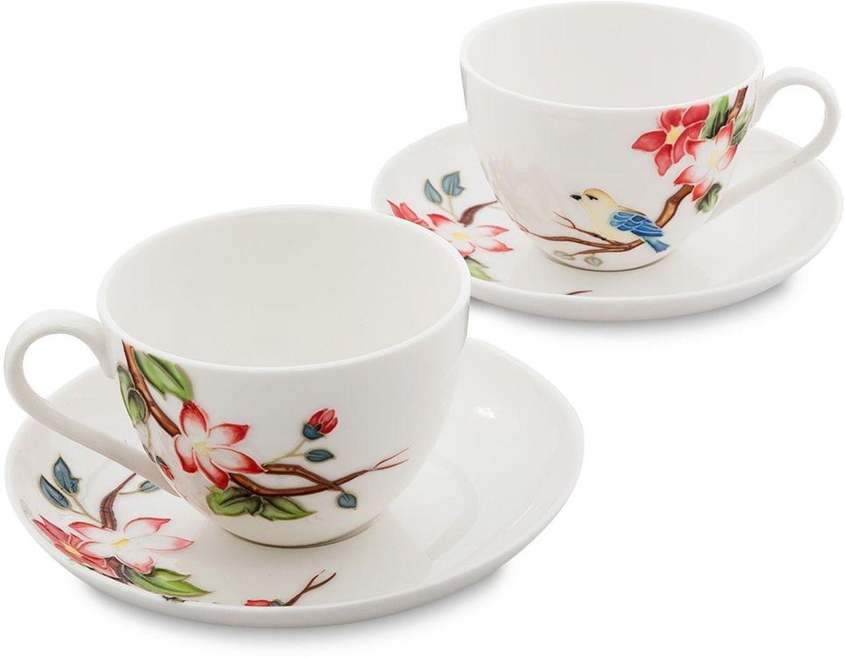 Набор чайный Pavone Райская птица, 4 предмета. 451596115610Объем чашки: 250 млДиаметр блюдца: 15 см.