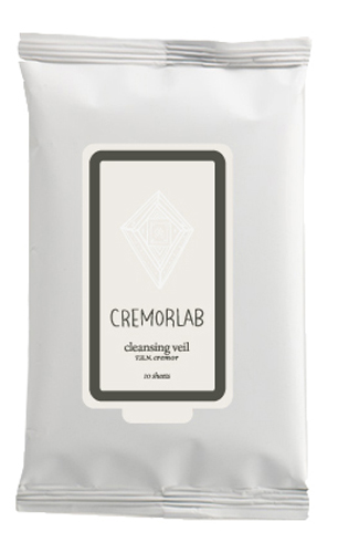Cremorlab T.E.N. Cremor Cleansing Veil / Салфетки для снятия макияжа, 10 шт28032022Прекрасно и быстро удаляют следы любого макияжа, снимая раздражения и оставляя кожу увлажненной уже на этапе очищения. Входящие в состав водные и растительные ингредиенты, мгновенно впитываются, глубоко питают и прекрасно сохраняются кожей, восстанавливают ее структуру и водно-жировой баланс. Не содержит искусственных ароматизаторов, минеральных масел и парабенов. Подходит для всех типов и состояний кожи.Количество: 10 штук