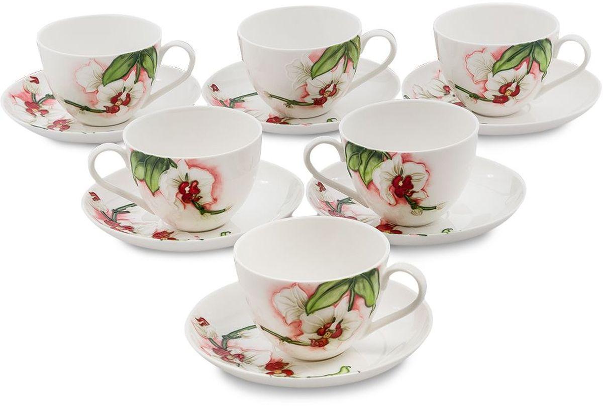 Набор чайный Pavone Королевская орхидея, 6 предметов. 451609115510Объем чашки: 200 млДиаметр блюдца: 15 см.
