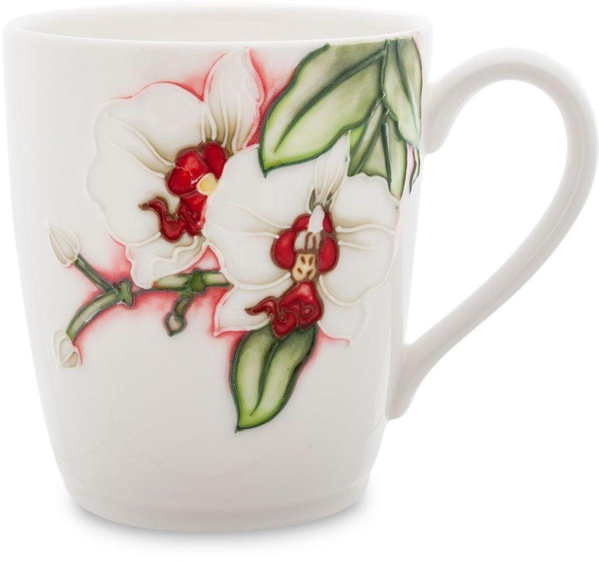 Кружка Pavone Королевская орхидея, 300 мл391602Кружка Pavone Королевская орхидея выполнена из высококачественного фарфора с глазурованным покрытием и оформлена оригинальным рисунком. Посуда из фарфора позволяет сохранить истинный вкус напитка, а также помогает ему дольше оставаться теплым. Такая кружка прекрасно оформит стол к чаепитию и станет его неизменным атрибутом. Объем: 300 мл.Высота чашки: 9 см.