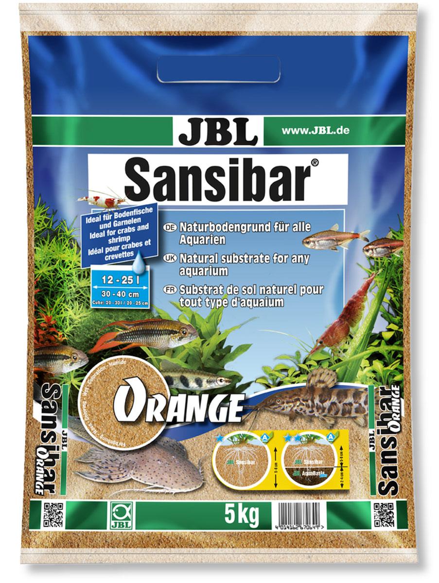 Грунт декоративный для аквариума JBL Sansibar, мелкий, цвет: оранжевый, 5 кг галька реликтовая эко грунт для аквариумов 4 8 мм 3 5 кг
